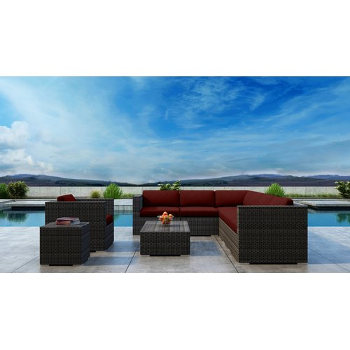 Orren Ellis Gilleland 9 Piece Sectional Set with Sunbrella Cushion
