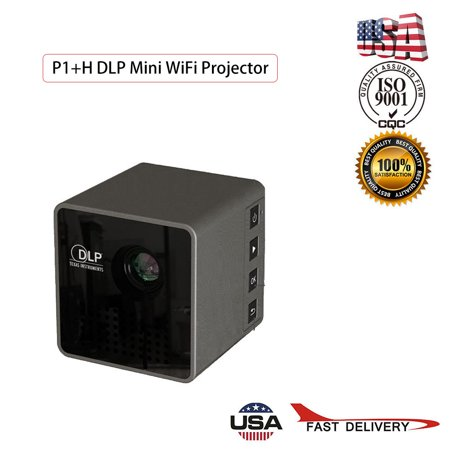 P1+H DLP Mini WiFi Projector Portable Projector Video Multimedia Home (Best Mini Projector For Business Presentations)