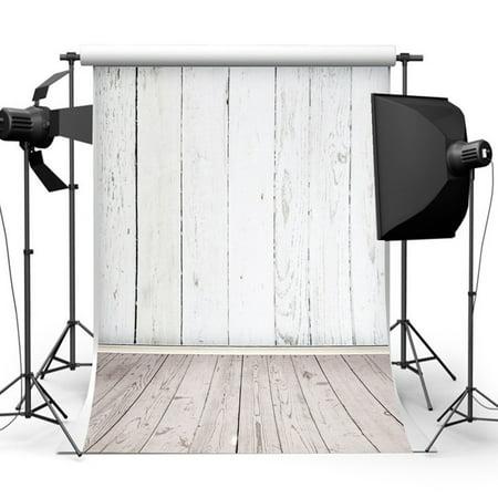 5x7FT Vinyl White Wood Floor Vintage Photography Backdrop Camera & Studio Photo Backgrounds Props (Photographer Background)