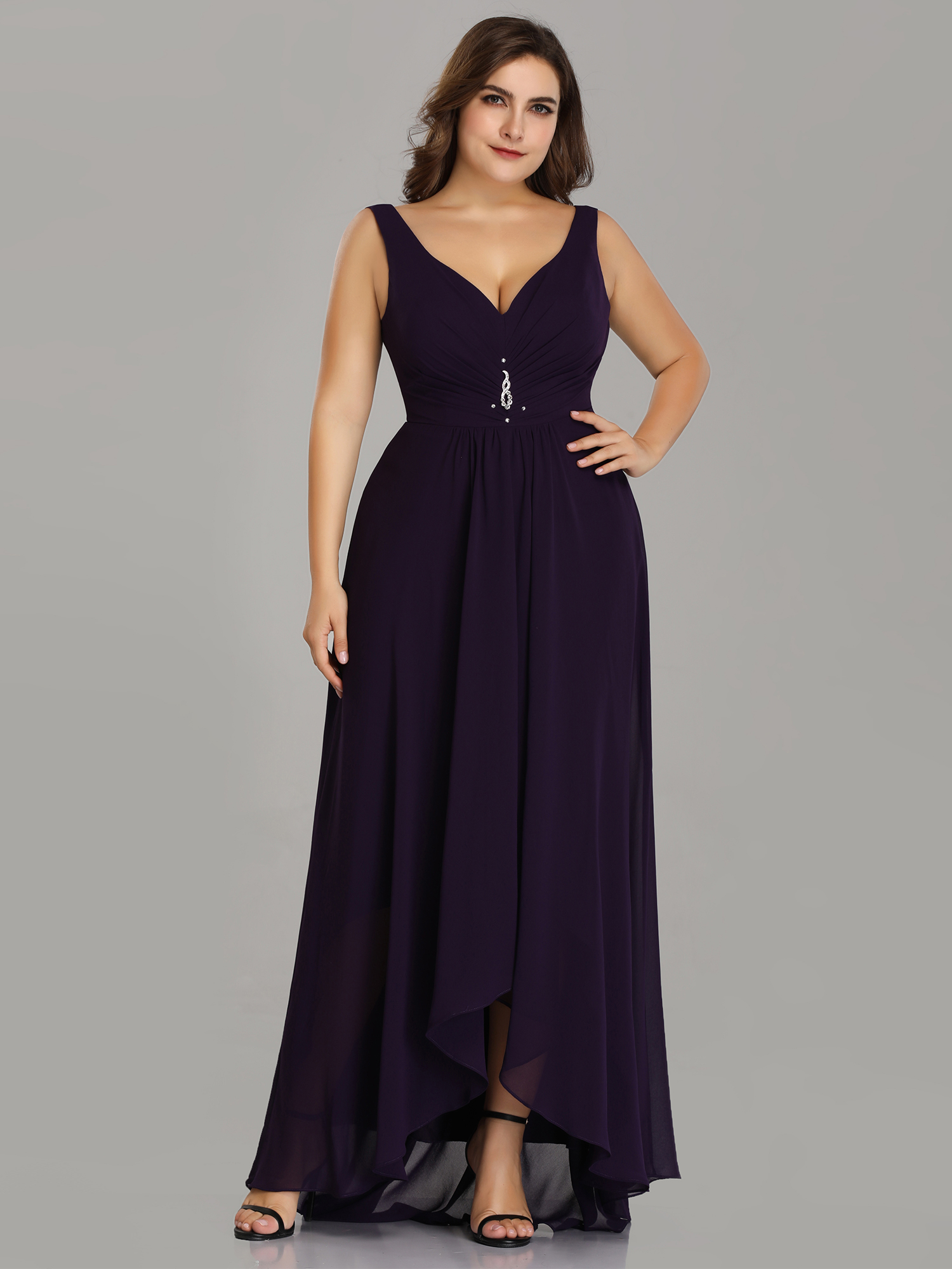 Ever-Pretty Womens Plus Size Long Evening Ball Gown Winter Holiday Party  Maxi Dresses for Women 9983P Black US 22