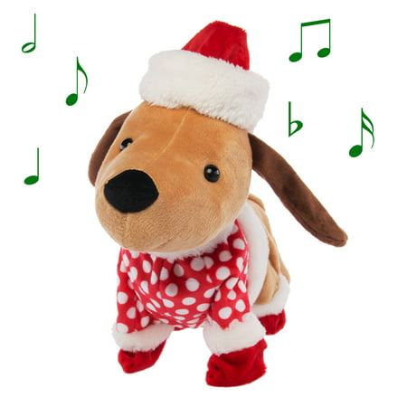 Simply Genius Funny Animated Christmas Plush: Dog Stuffed Animals, Animated Toys, Talking Toys, Christmas Toys, Animated Christmas Decorations That Sing Christmas Music and Dance ()