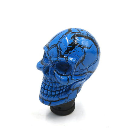 - Universal Skull Head Style Car Truck Manual Stick Gear Shift Lever Knob Blue