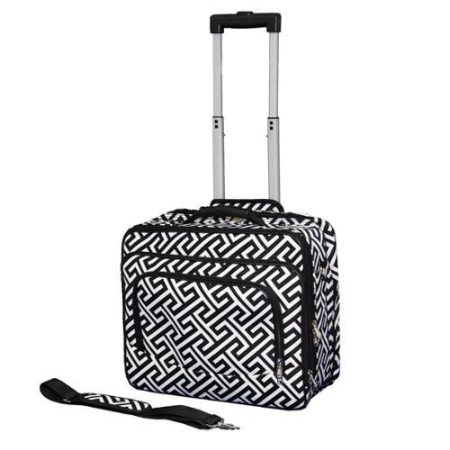 World Traveler Geometric Print Collection Rolling 17-inch Laptop Business Case
