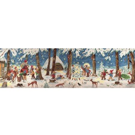 Alexander Taron Sellmer Panorama Santa in Forest with Elves Advent Calendar