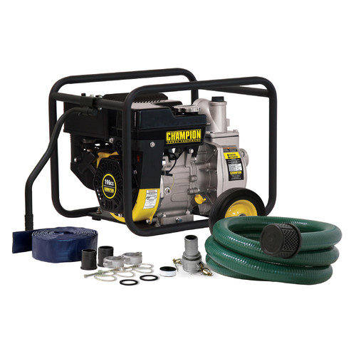 Champion Power Equipment Champion Power Equipment Model 66520, 158 GPM 2'' Semi-Trash and Water Transfer Pump with 2'' Hose Kit