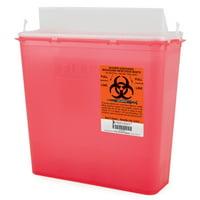Prevent Sharps Container 2-Piece, 5 Quart, Red Case of 20