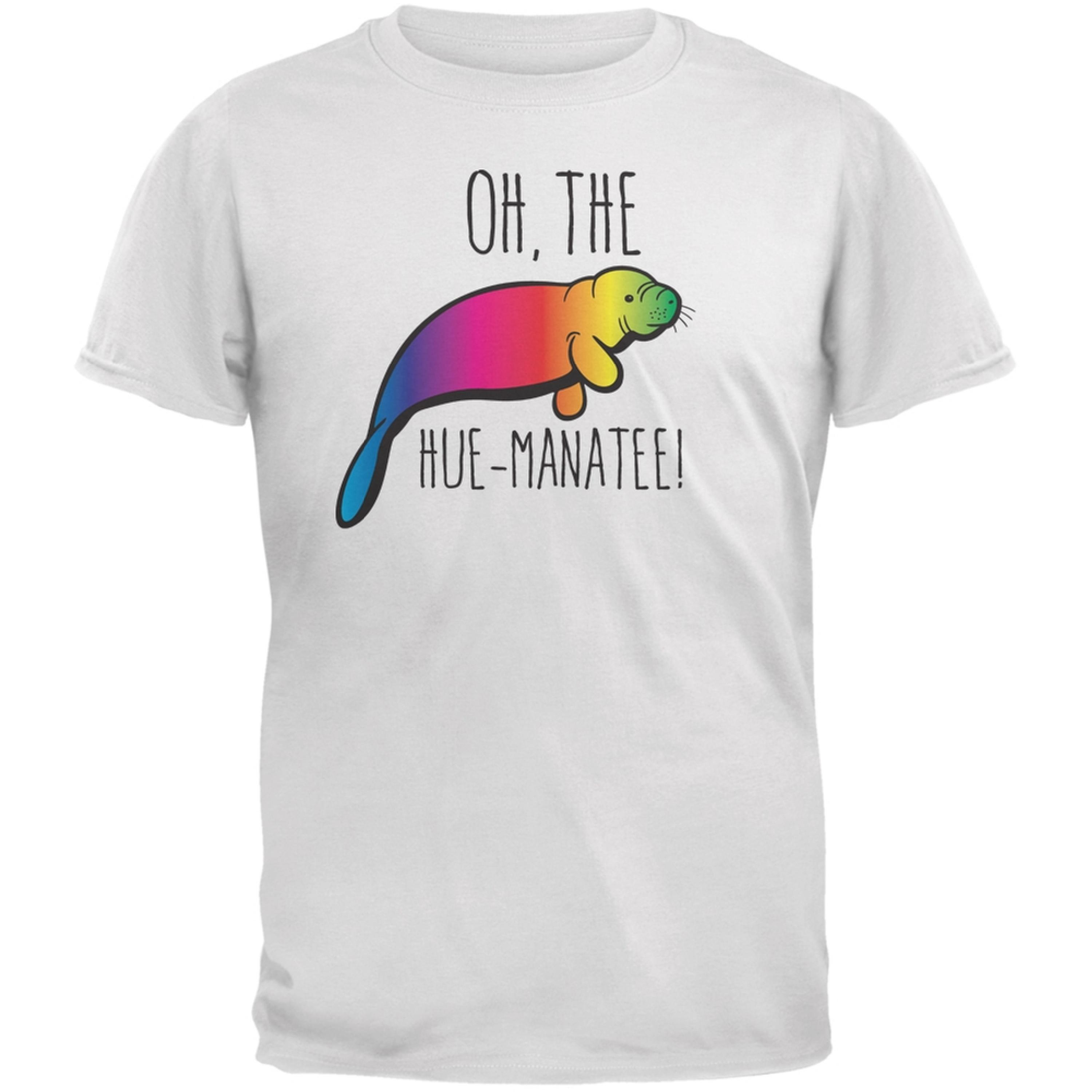 PAWS - Oh The Hue-Manatee White Adult T-Shirt