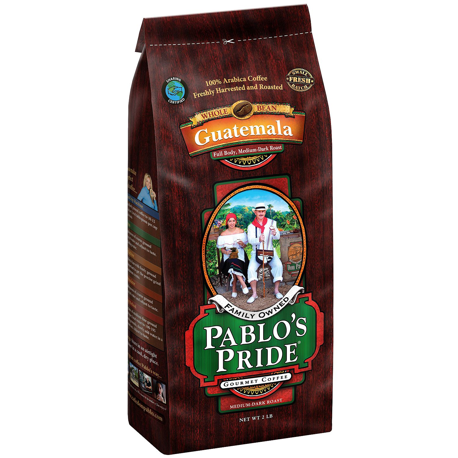 Pablo's Pride Gourmet Coffee, Whole Bean, Guatemala (2 lb.) by