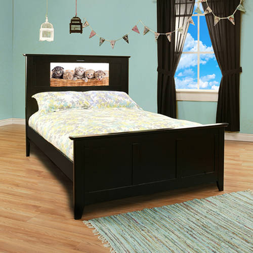 LightHeaded Beds Shaker Full Bed Black Walmart