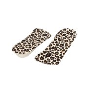 "Unique Bargains 2 x Black Beige Brown 6.3"" Length 1"" Height Shoes Increase Pads for Women"