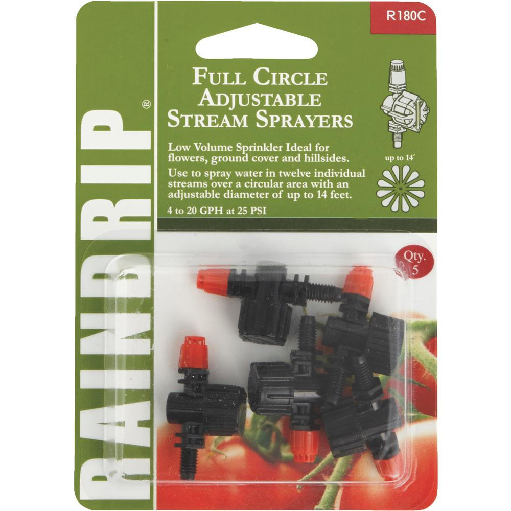 Raindrip Full Adjustable Stream Sprayer R180CT