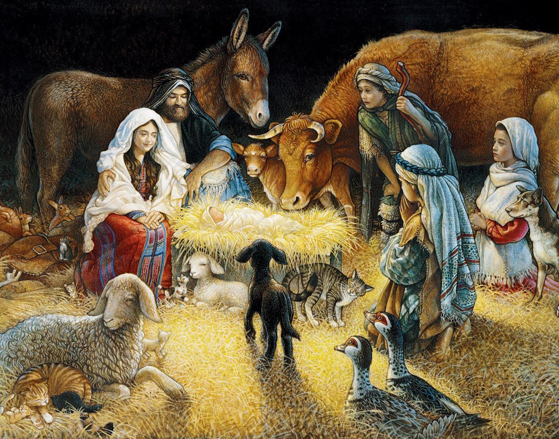 White Mountain Puzzles O Night Divine Nativity -1000 Piece Jigsaw Puzzle by White Mountain Puzzles