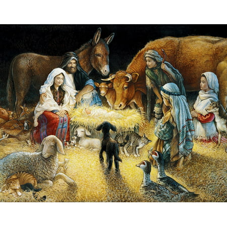 White Mountain Puzzles O Night Divine Nativity -1000 Piece Jigsaw - Nativity Jigsaw