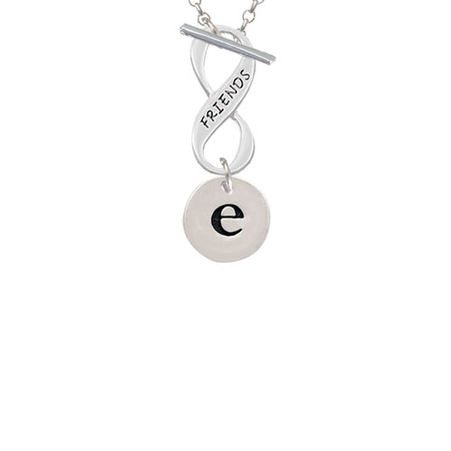 Disc 1/2'' Initial - e - Friends Infinity Toggle Chain Necklace