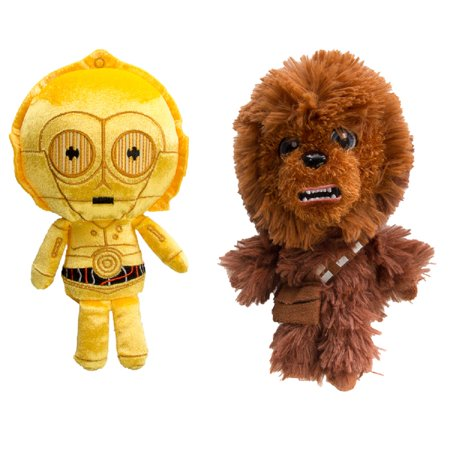 Star Wars Funko (Set of 2) Disney Galactic Plushies Cute Stuffed Animals Star Wars Plush Toys For Kids and Adults Chewbacca C3PO Star Wars Toys Set - Shepherd Staff For Sale