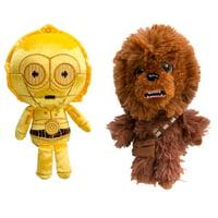 Star Wars Funko Pop (Set of 2) Chewbacca C3PO Plushies Cute Stuffed Animals Star Wars Plush Toys, Star Wars Toys Set, Star Wars Party Supplies