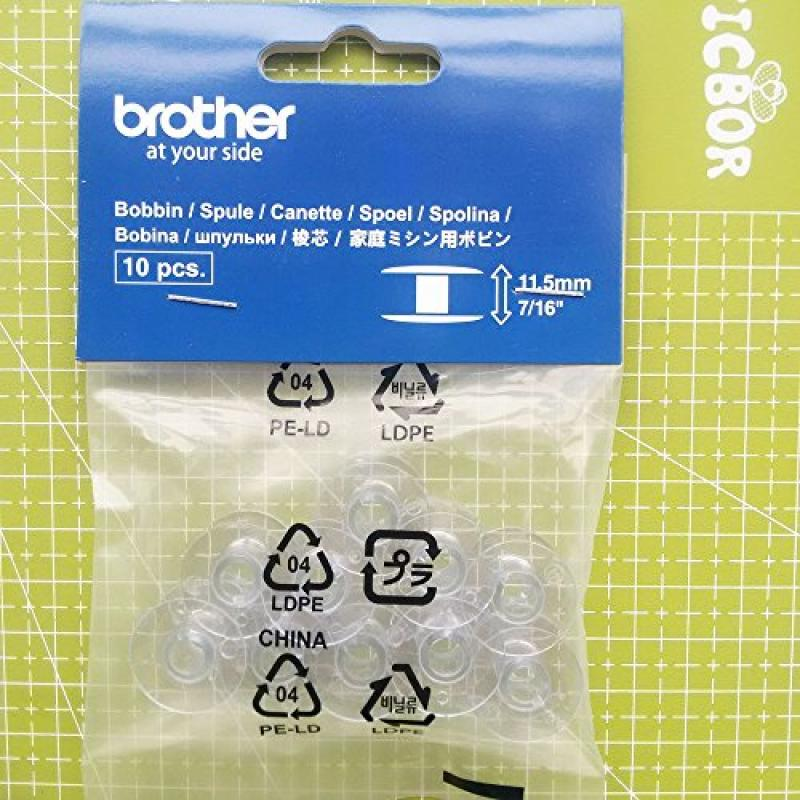 Brother SA156 Top Load Bobbins, 10 pack