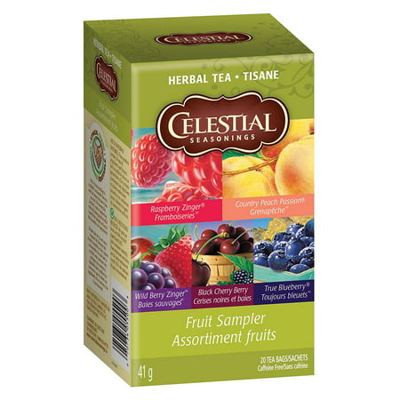 Herbal Tea Fruit Sampler - 18 Tea Bags, Our lively fruit tea collection includes five of our most beloved teas brimming with fruit flavor:.., By Celestial Seasonings