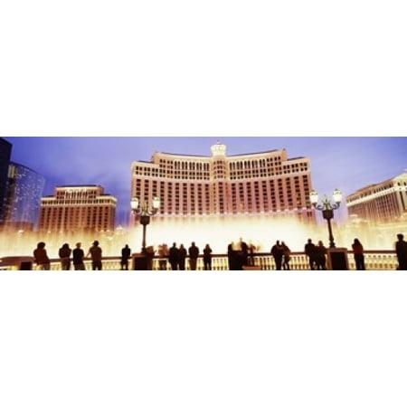 Hotel lit up at night Bellagio Resort And Casino The Strip Las Vegas Nevada USA Canvas Art - Panoramic Images (36 x 12)](Casino Theme Night)