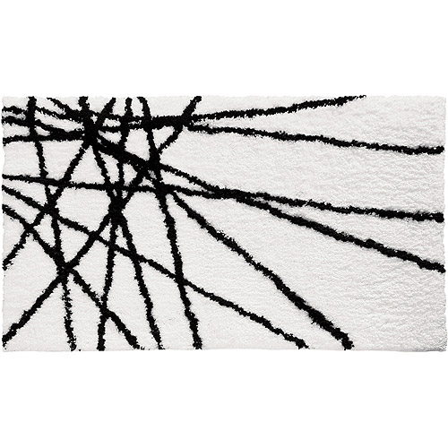 InterDesign Microfiber Abstract Bath Rug