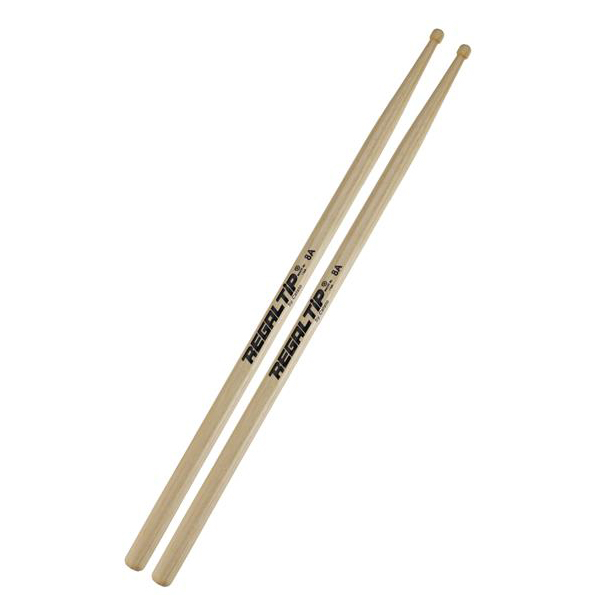 Regal Tip 208R Hickory 8A Wood Tip Drumsticks by Regal Tip