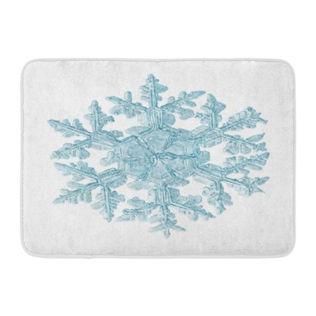 GODPOK Object Color Frosted Glitter Snowflake White Flake Overlay Rug Doormat Bath Mat 23.6x15.7 inch (Snowflake Overlay)