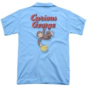 Curious George Hangin Out (Back Print) Mens Polo Shirt