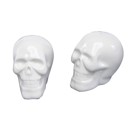 Special T Imports Smiling Skeleton Skulls Halloween Salt and Pepper Shaker Set
