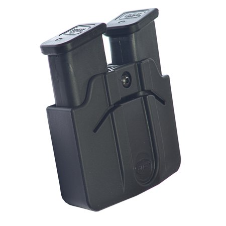 Double Stack Mag - Orpaz Magazine Belt Holster Holds 2 Double Stack 9mm POLYMER Mags Adjustable for