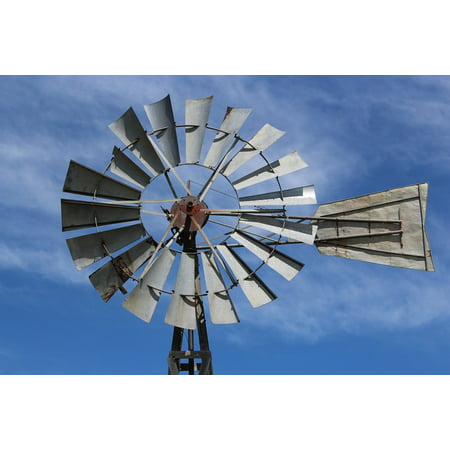 Acrylic Face Mounted Prints Farm Landmark Windmill Wind Mill Old Landscape Print 14 x 11. Worry Free Wall Installation - Shadow Mount is Included.