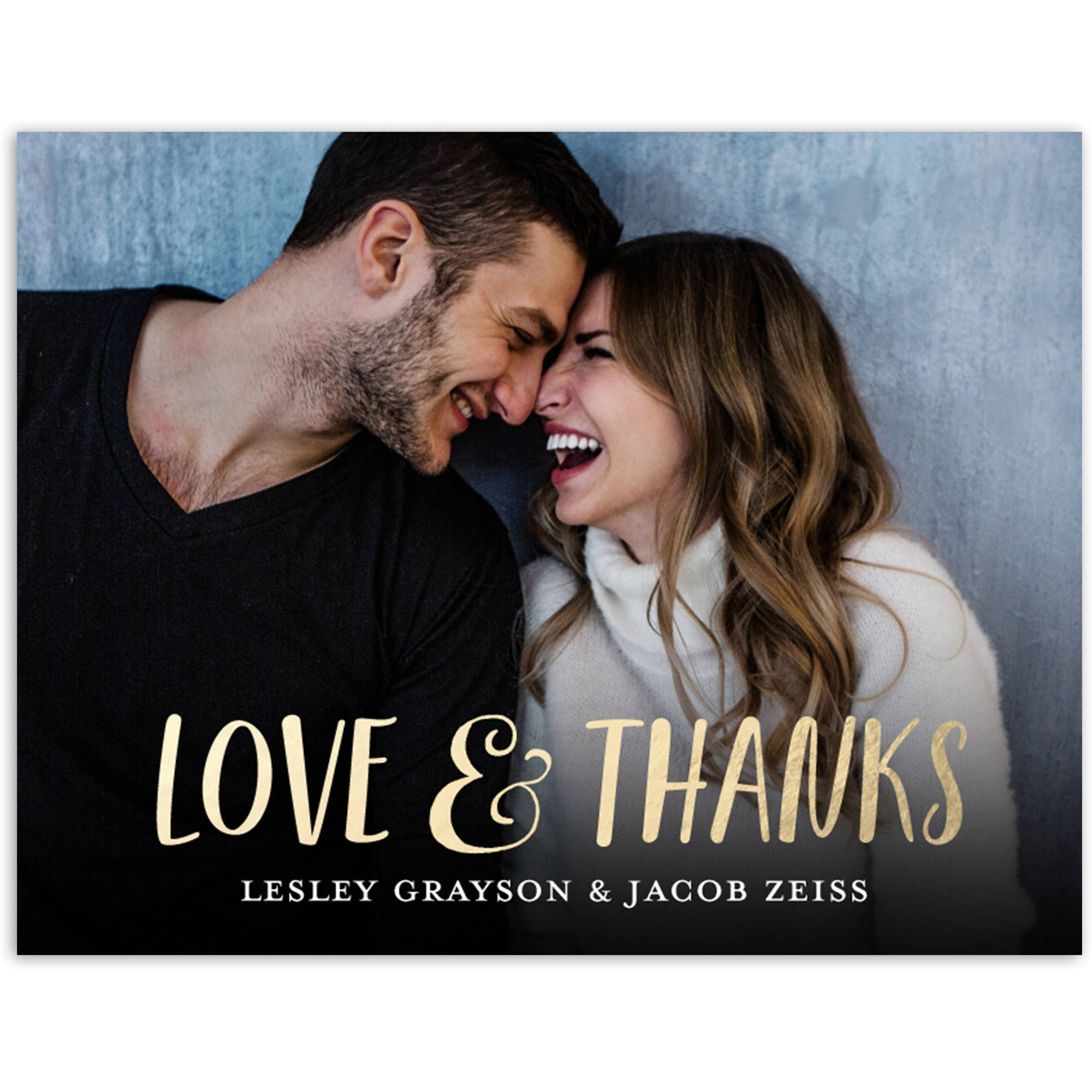 Love and Thanks Wedding Thank You Postcard