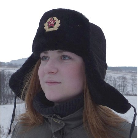 e60478ab2a392 Russian Navy officer mouton ushanka hat. Black. - Walmart.com