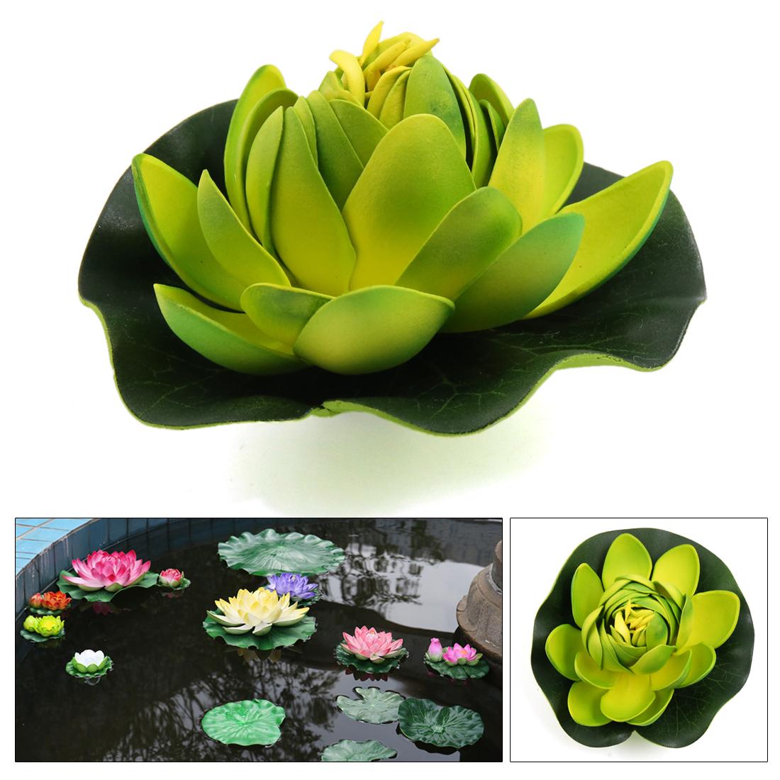 Unique BargainsGreen Foam Flower Bud Lotus Aquarium Pond Decoration Floating Plant Ornament