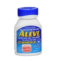 Aleve Easy Open Arthritis Cap Caplets with Naproxen Sodium, 220mg (NSAID) Pain Reliever/Fever Reducer, 100