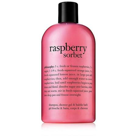 philosophy raspberry sorbet shampoo/shower gel/bubble bath, 16 ounces (Sorbet Bath Soak)