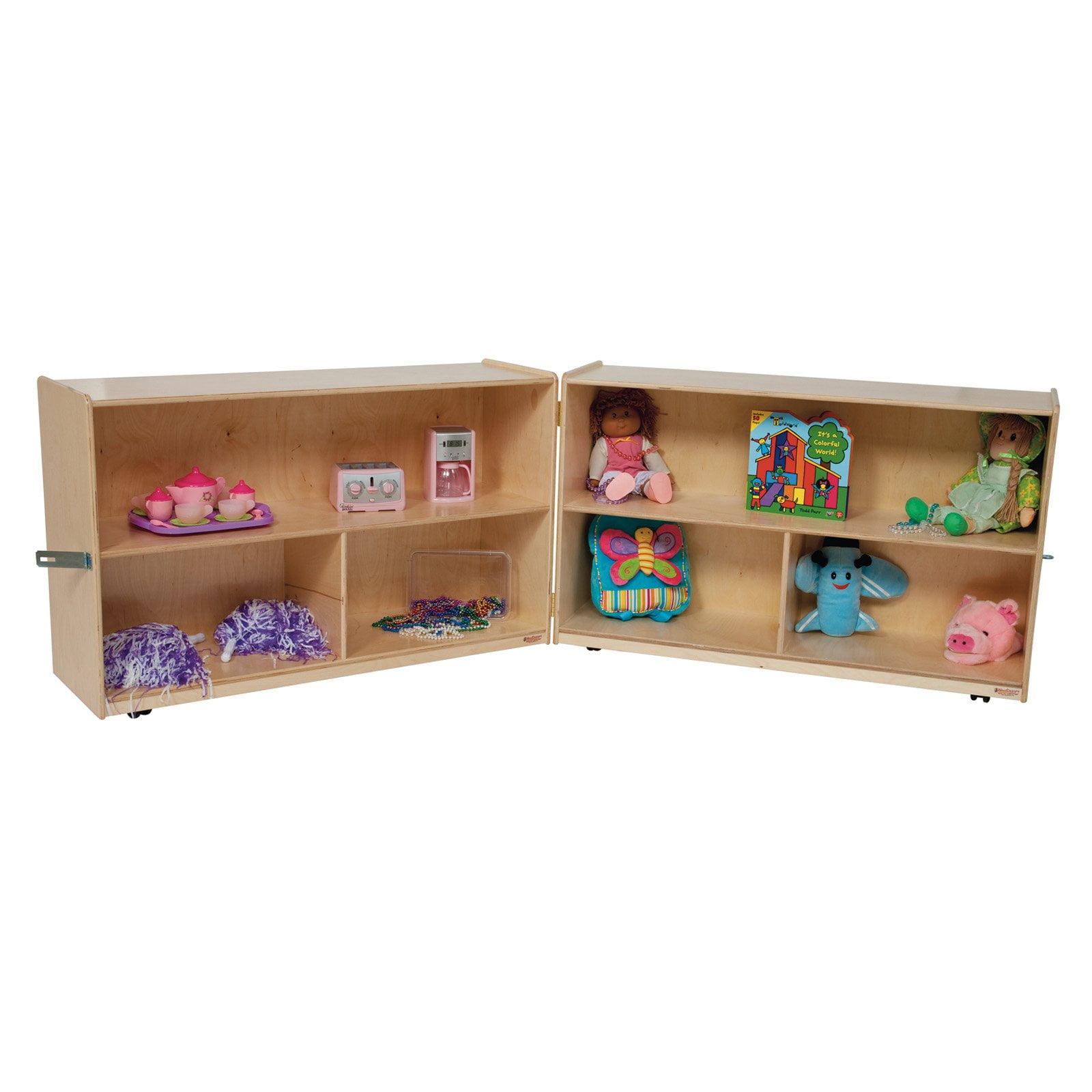 Wood Designs 30H in. Folding Versatile Storage Unit - Natural