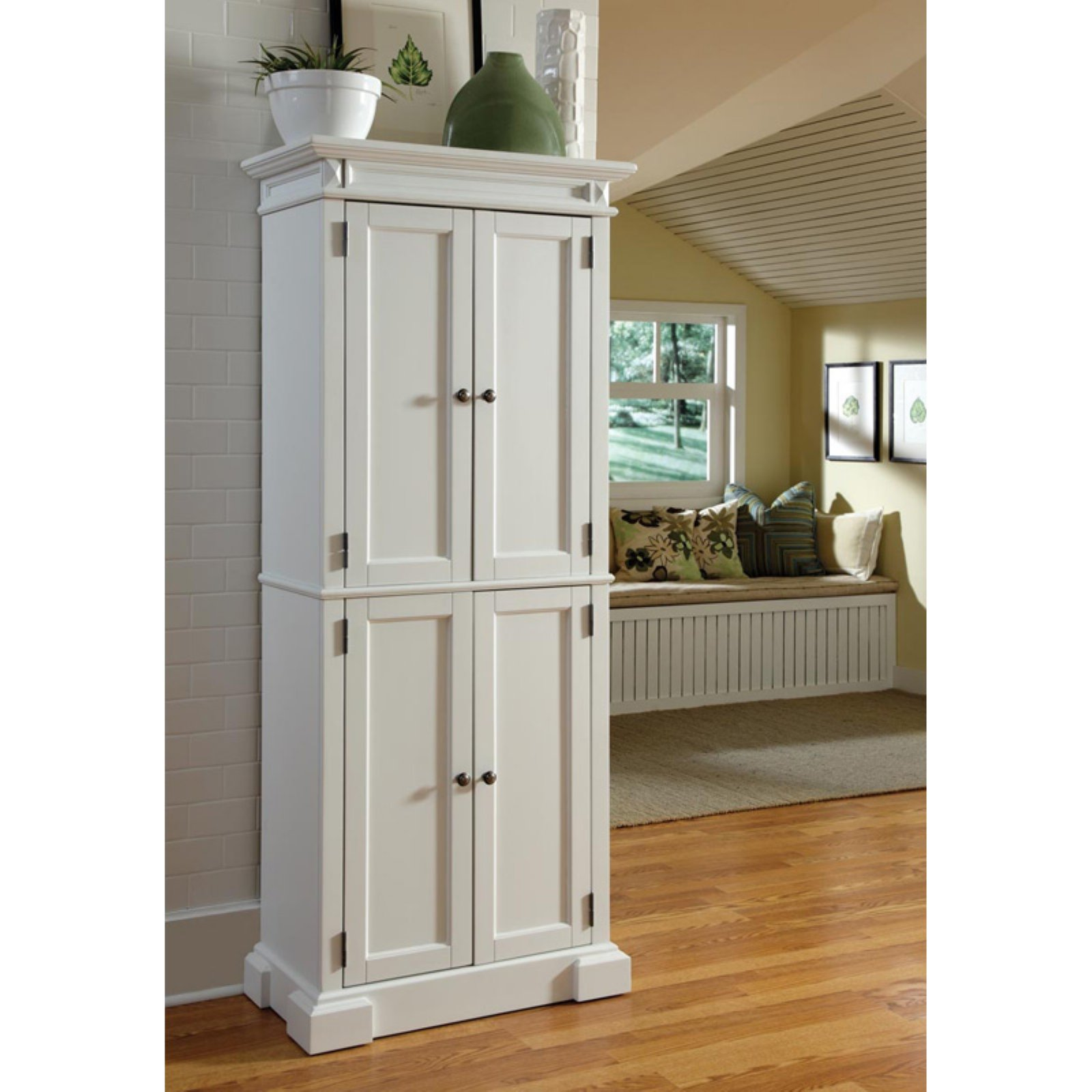 Americana White Pantry By Home Styles Ite Distressed Oak Kitchen Island By Home Styles Pantries Home Kitchen Swl13562 Nl