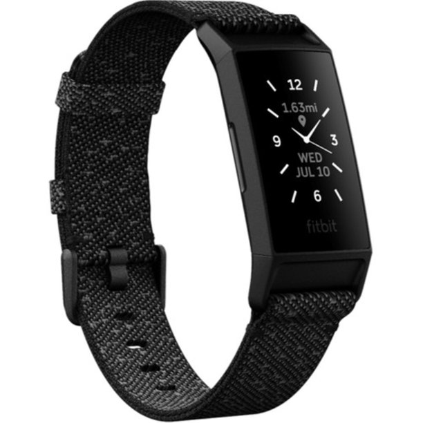 Fitbit Charge 4 Special Edition Activity Tracker (NFC), Granite Reflective/Black