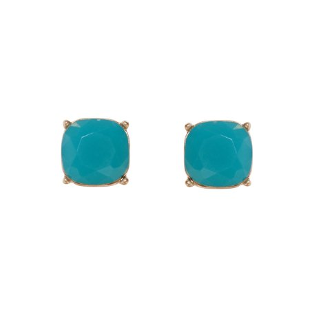 c27e00cba Humble Chic NY - Faceted Square Glitter Stud Earrings Cushion Cut Statement  Post Ear Studs .55