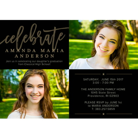 Inspirational Grad Graduation Invitation](Train Invitations)