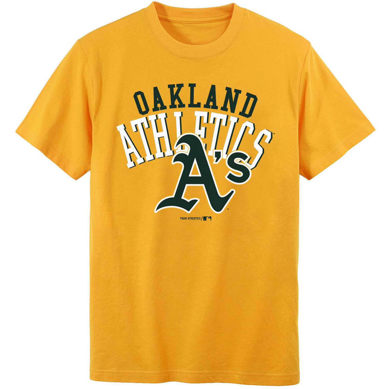 MLB Oakland A'S Boys 4-18 Short Sleeve Alternate Color Tee Team
