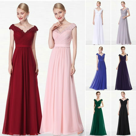 Ever-Pretty Women's Off Shoulder Lace Appliques Long Formal Evening Wedding Party Dresses for Women 08633 Burgundy 4 - White Cap And Gown