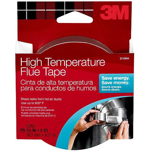 """3M High-Temperature Flue Tape, 1.5"""" x 15'"""