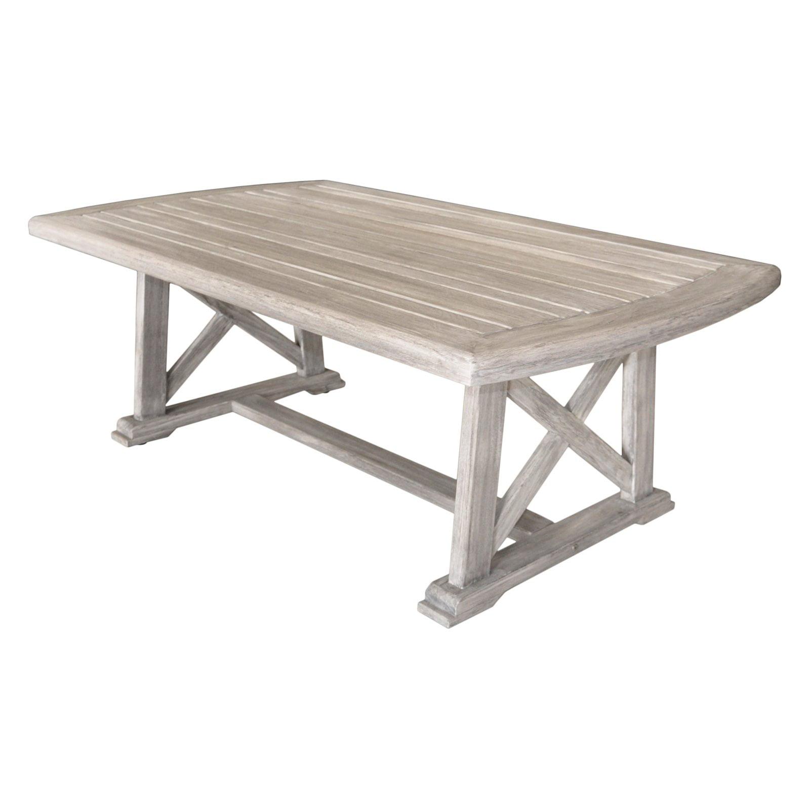 Grey Teak Coffee Table: Driftwood Gray Teak Surf Side Outdoor Coffee Table