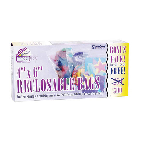 Recloseable Bags 300Bx 4X6In Value Pack