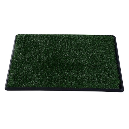 "20"" x 30"" Grass Pad Dog Potty, Realistic looking synthetic grass pad attracts dogs more naturally than other potty training tools By Pawhut Ship from US"