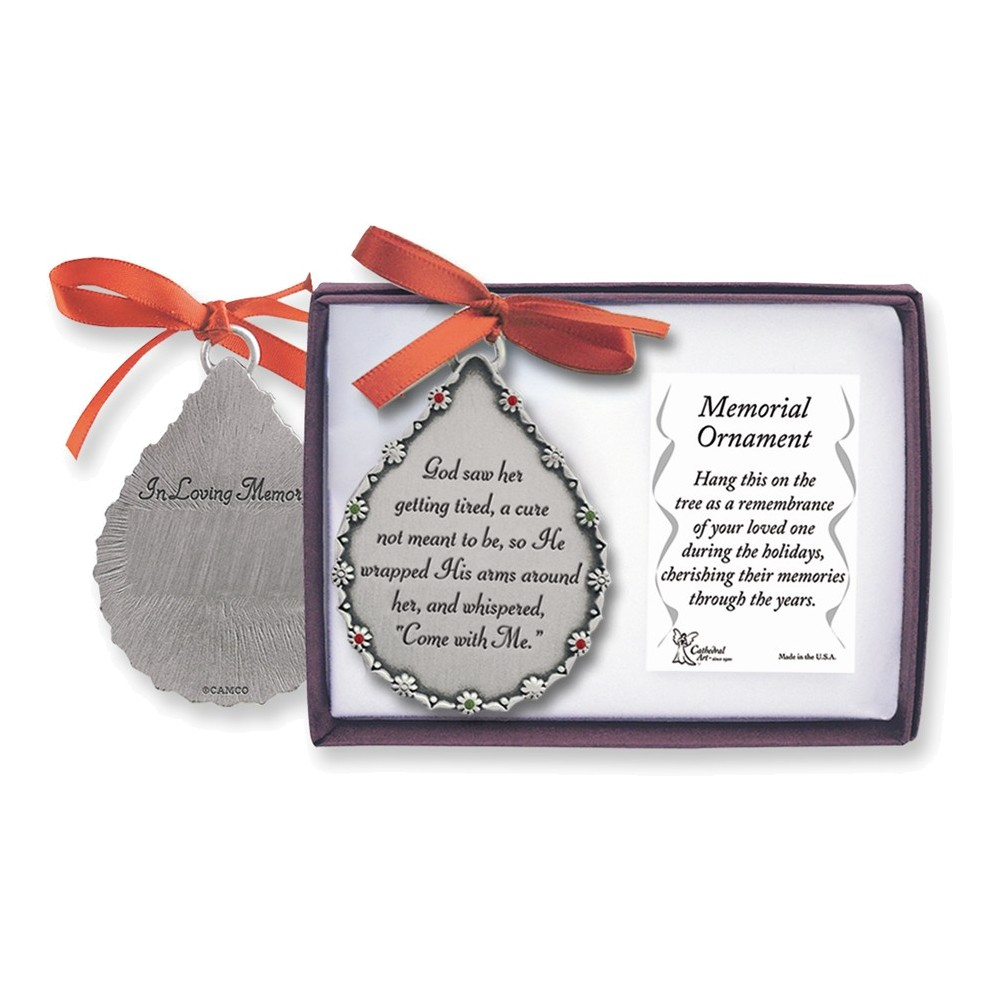 Memorial Teardrop Ornament - Her