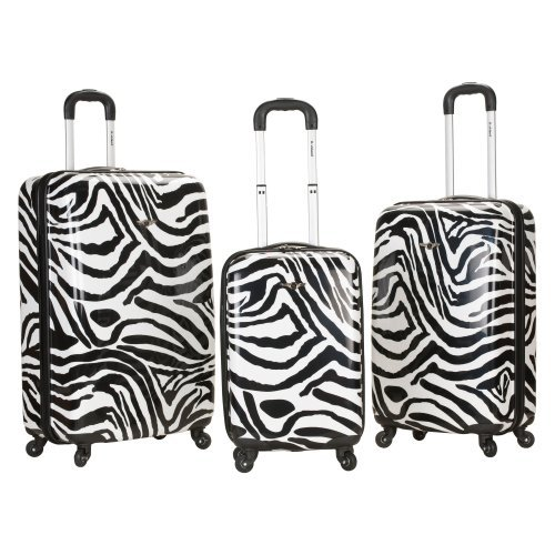 Rockland Luggage 3-Piece Polycarbonate/ABS Upright Luggage Set
