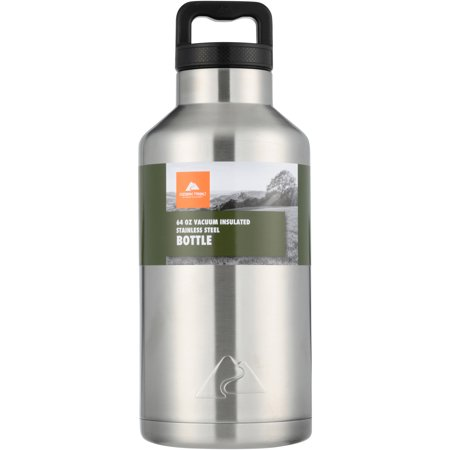 Mom Stainless Water Bottle - Ozark Trail 64oz Double Wall Stainless Steel Water Bottle