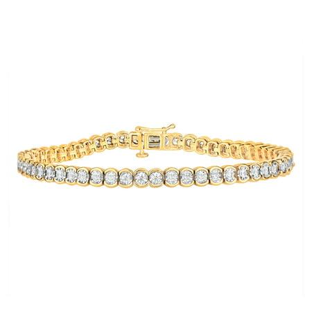 10k White Gold Tennis Bracelet (2.00ct Diamond Tennis Bracelet in 10K)